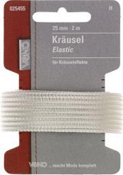 Kräusel Elastic SB 25mm weiß