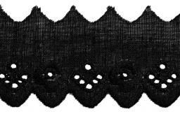 Scalloped Lace 30Mm Black 100%Co