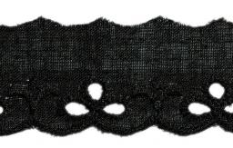 Scalloped Lace 25Mm Black 100%Co