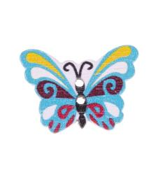 Knopf 2-Loch Holz Schmetterling