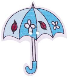 Knopf 2-Loch Holz Regenschirm