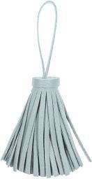 Quaste/Tassel mit Aufhänger 60mm Gesamtlänge 11cm Kunstleder