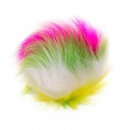 Faux Fur Pompoms 12cm