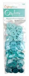 Buttons Ombre Turquoise