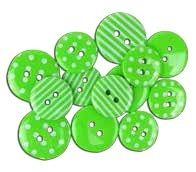 "Favorite Findings 1469 ""Lime Green Dots & Stripes"""