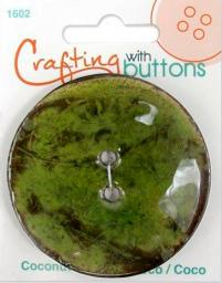 Crafting with buttons COCONUT GREEN