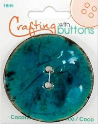 Crafting with buttons COCONUT TURQU