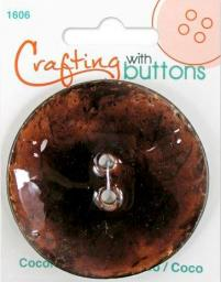 Crafting with buttons COCONUT BROWN