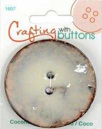 Crafting with buttons COCONUT CREAM