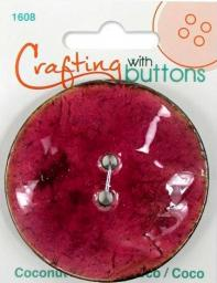 Crafting with buttons COCONUT RASPBERRY