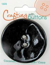 Crafting with buttons COCONUT BLACK