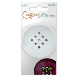 Crafting with buttons 9 hole large white