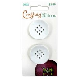Crafting with buttons 9 hole  small white