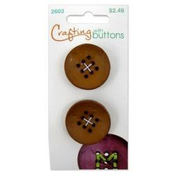 Crafting with buttons 9 hole small bronze