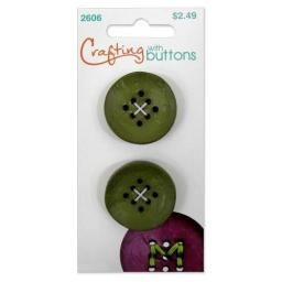Crafting with buttons 9 hole small green