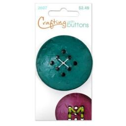Crafting with buttons 9 hole large teal