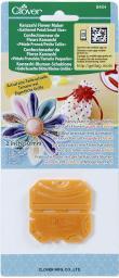 Kanzashi-Blumen-Schablone gekräuselte kleine Blüte