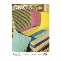 DMC Knitting-Instructions Colorful Pillowcase