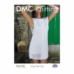 DMC Knitting-Instructions Long Vest-Top