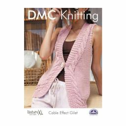 DMC Knitting-Instructions Cable Stitch Vest