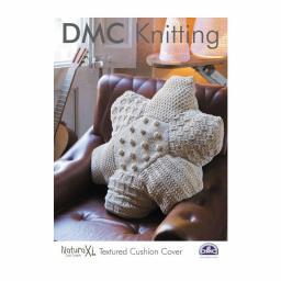 DMC Strickanleitung Strukturierter Kissenbezug
