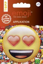 Emoji Applikation Lachen mit Herzaugen