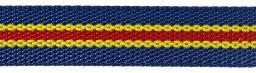 Gurtband 30mm royalblau/gelb/rot