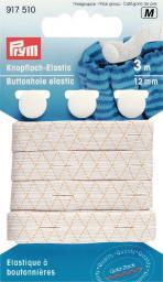 Knopfloch-Elastic mit 3 Knöpfen
