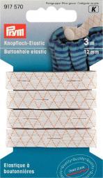 Knopfloch-Elastic 12 mm weiß