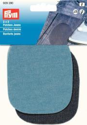 Patches Jeans (zum Aufb./Aufn.) 9 x 8 cm hellblau/dunkelblau