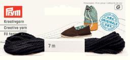 Espadrilles-Kreativgarn 7m schwarz (neues Design)