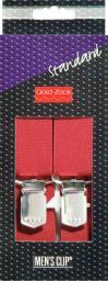 Hosenträger Standard 125 cm 30 mm uni-bordeaux