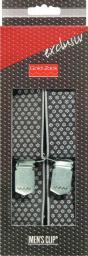 Hosenträger Exclusiv 120 cm 35 mm Webpunkte schwarz