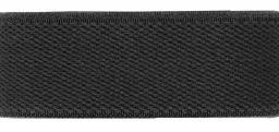 Velour-Elastic 25 mm schwarz