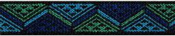 Color-Elastics 25 mm Dreieck blau