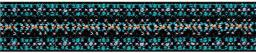 Color-Elastics 25 mm Muster türkis