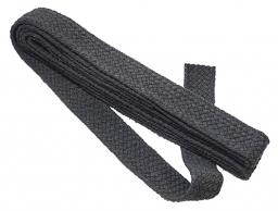 webbing for bags 40mm grey braided