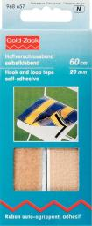 Hook and Loop Tape adhes.20mm beige 60cm