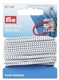 Elastic-Kordel 2,5 mm weiß/schwarz
