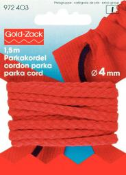 Parka Cord 4mm red                  1,5m