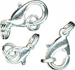 Spring clasps silver plated 3 pcs.