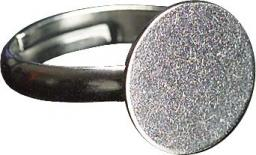 Ring with plate 12 mm silver-coloured 2 pcs.