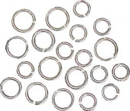 Rings Ø 5 u. 6,5 mm silver-coloured 2 x 10 pcs.