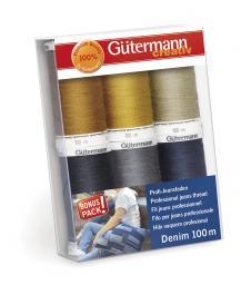 Yarn Set Denim 100m / 6 Rolls