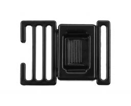 Clip buckles flat plast 25 mm black