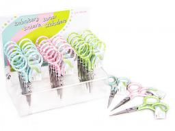 Embroidery Scissors Dots Display 3X6Pc