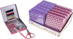 Sewing Kit Polka Dot Tin