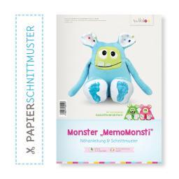 """Kullaloo Booklet Monster """"MemoMonsti"""" Schnittmuster + Anleit"""