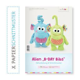"Kullaloo Booklet Alien ""B-Day Bibs"" Schnittmuster + Anleitun"