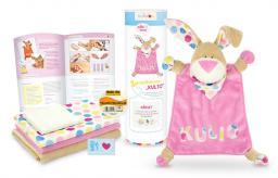 Kullaloo Materialset Schnuffeltuch Hase rosa
